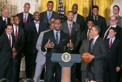 Obama Welcomes Miami Heat at the WH